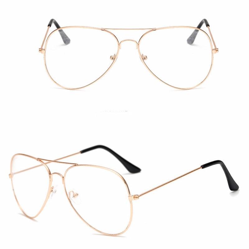Оптово-Классический Pilot Frame солнцезащитные очки кадров Мода Декоративная рамка очки с прозрачными линзами Старинные очки Оптовая очки магазин