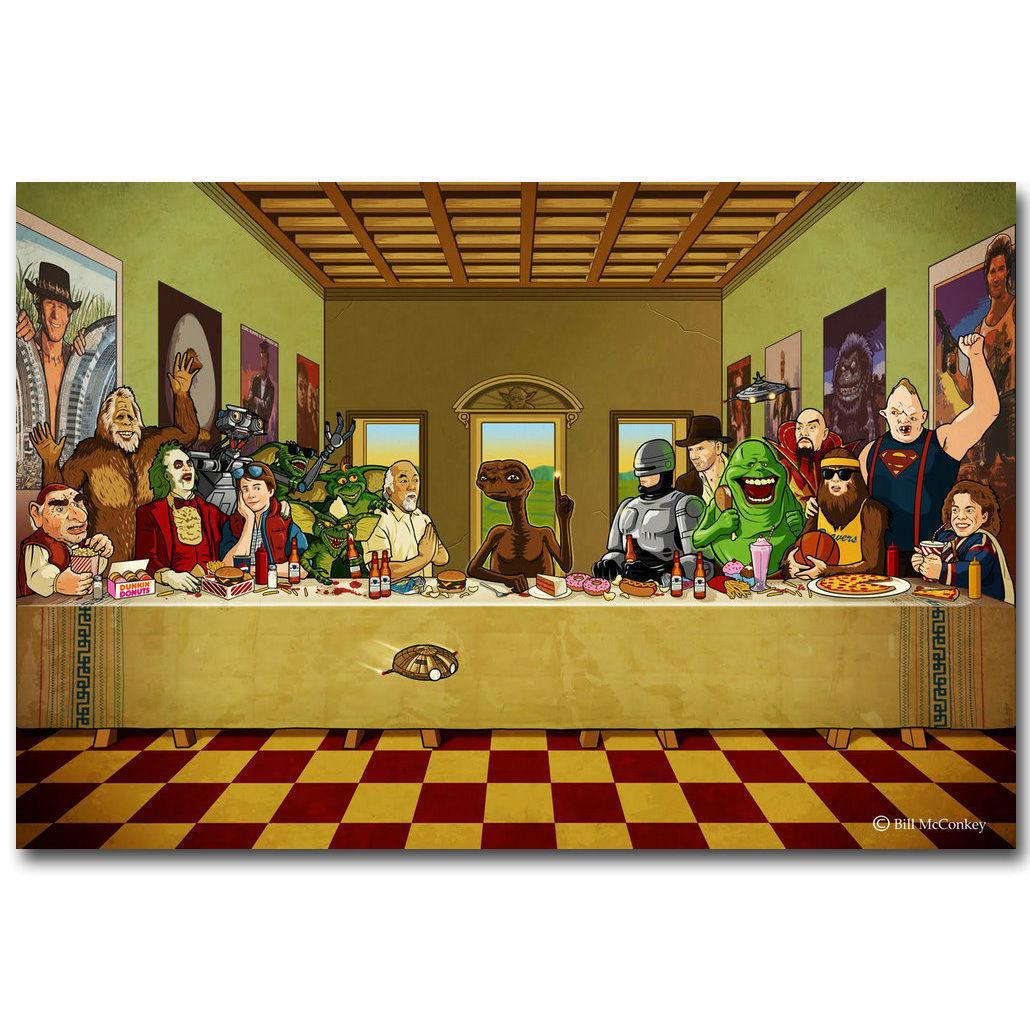 2020 Beetlejuice The Last Supper Cartoon Funny Art Silk Print Poster 24x36inch60x90cm 016 From Chuy8988 10 93 Dhgate Com