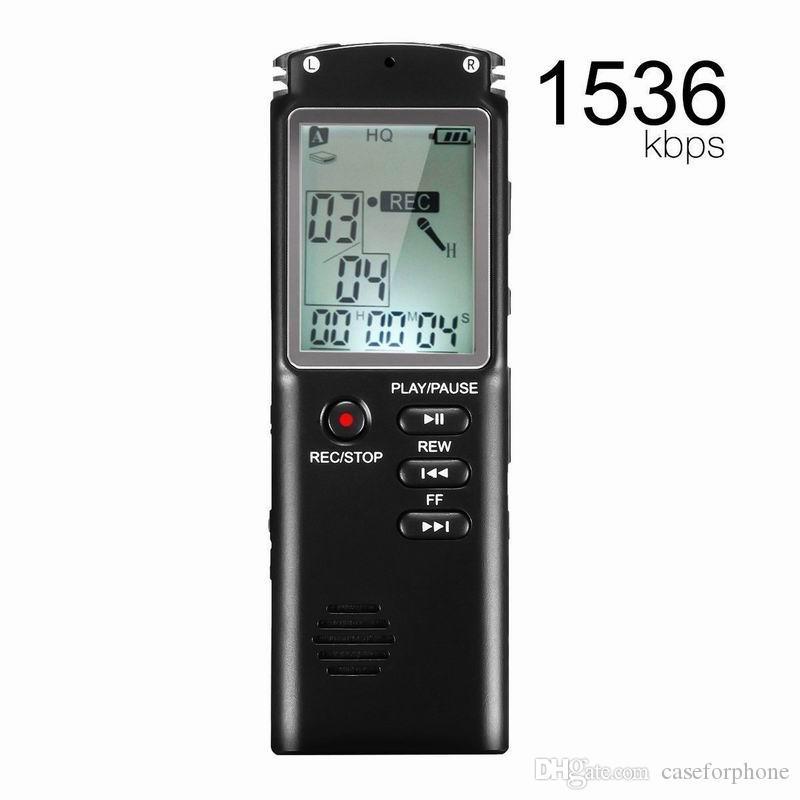 4G / 8GB / 16GB / 32GB مسجل صوت USB المهنية 12 ساعة الإملاء الصوت الرقمي مسجل صوت مع WAV MP3 لاعب