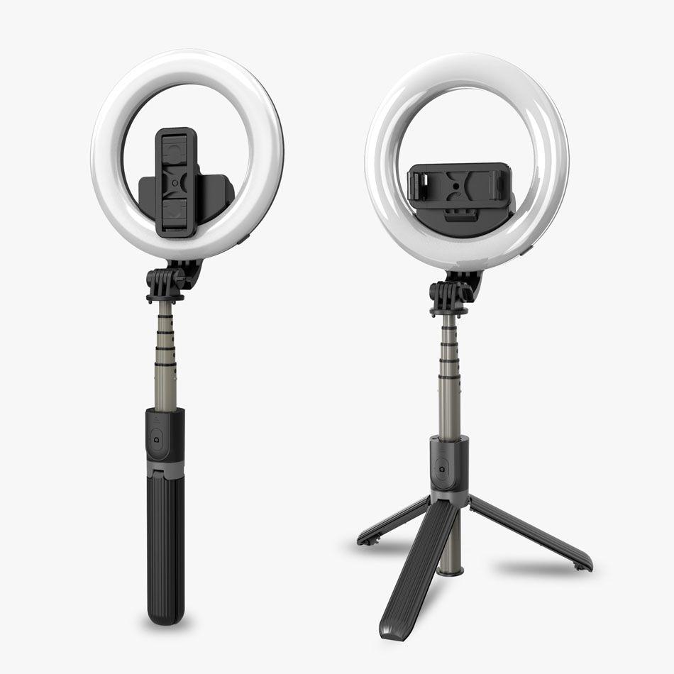 Anillo de Maquillaje de 9 Brillos tr/ípode para Selfies Bluetooth inal/ámbrico port/átil Tres en uno Maquillaje con luz Selfie Streamer en Tiempo Real LIDIWEE Anillo de luz LED de 5 Pulgadas