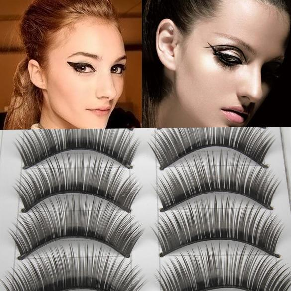 10Pairs Natural Long Thick Black False Eyelashes Charming Eye Lashes Makeup Tools 3D Mink False Eyelashes Extension