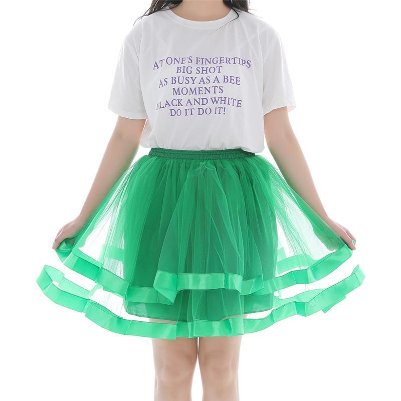 Moda Kadınlar Gökkuşağı Tutu Etek İçin Bayanlar Tutuş Pettiskirts Etek Balo Etek Dance Wear Parti Giyim Yüksek Bel Etekler