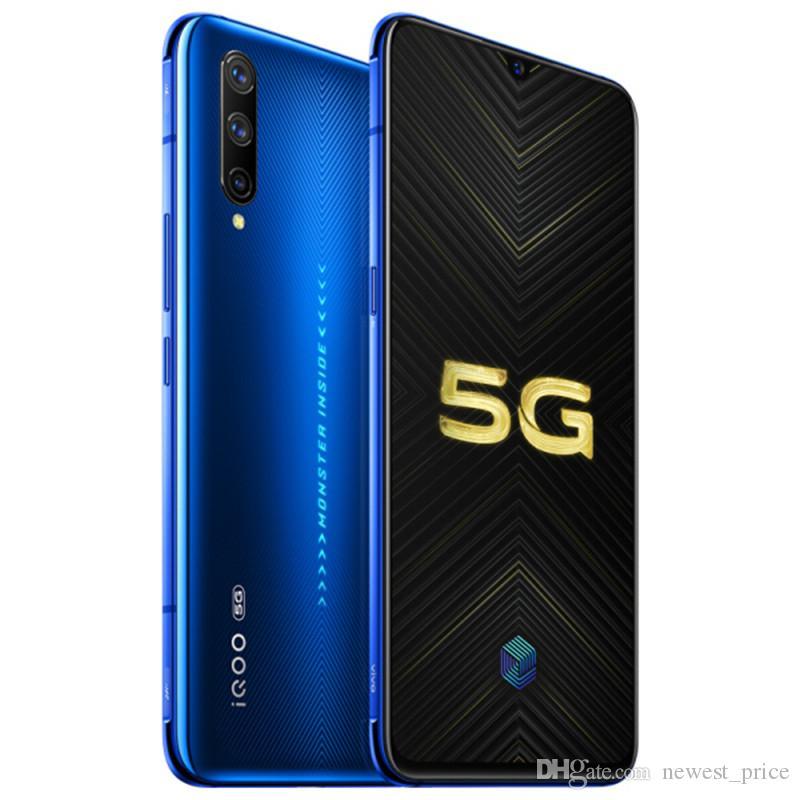 """Vivo d'origine iQOO Pro 5G Téléphone mobile 12Go RAM 128Go ROM Snapdragon 855 plus Octa Android de base 6,41"""" 48MP ID d'empreintes digitales à puce de téléphone portable"""