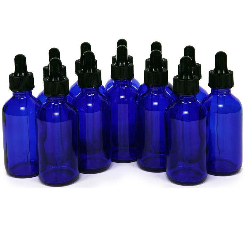 30ML Essential Oil Bottles Blue Glass Bottles With Glass Dropper Travel Dropper Liquid Pipette Bottle Refillable