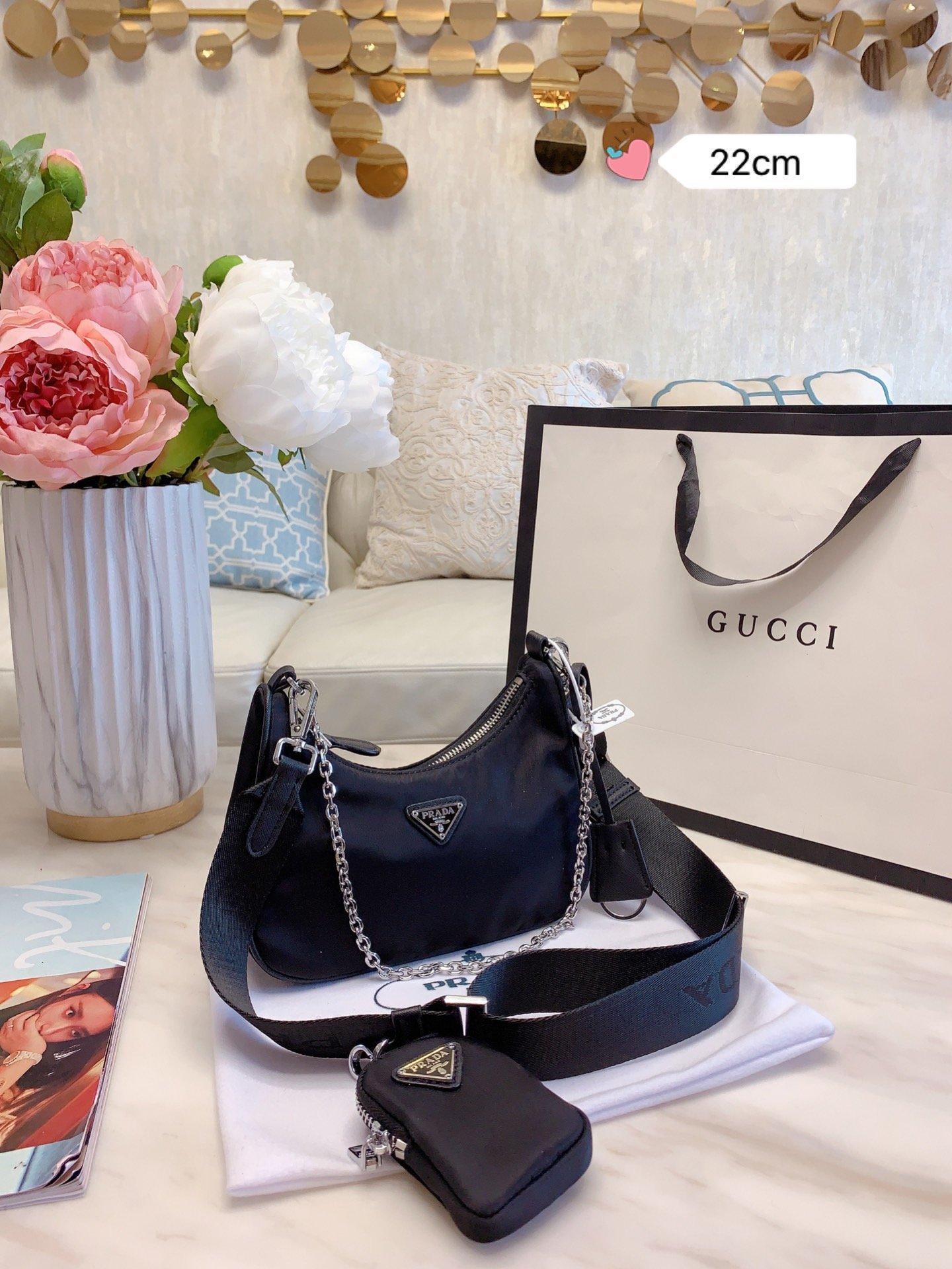 2020 Nuevo bolso de las mujeresPRADAbolsos de las mujeresDiseñador de bolsos de lujos Bolsas de mujereshombro de la maneraLa bolsa 002