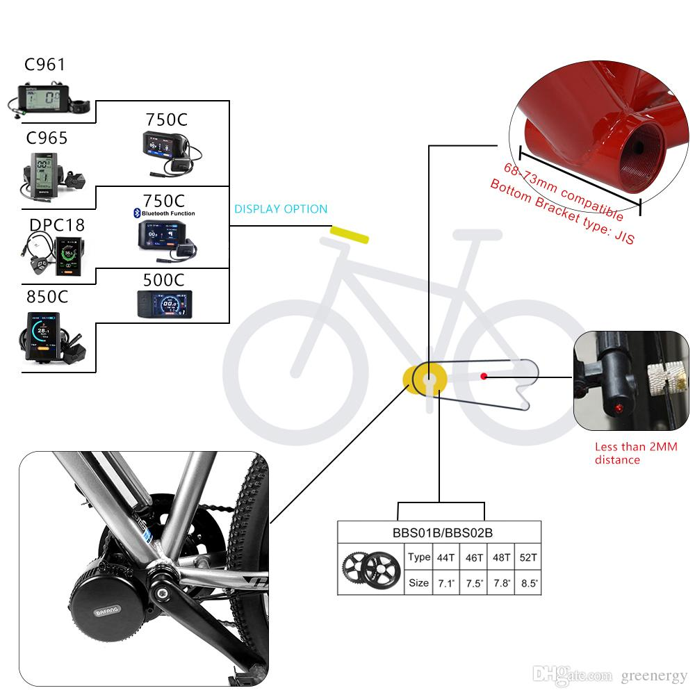 2019 BAFANG 8FUN BBS01 BBS02B 36V 250W Mid Drive Crank Motor Electric  Bicycle Conversion Kit EBIKE Middle Engine W/ 36V 10AH Kettle Battery Pack  From