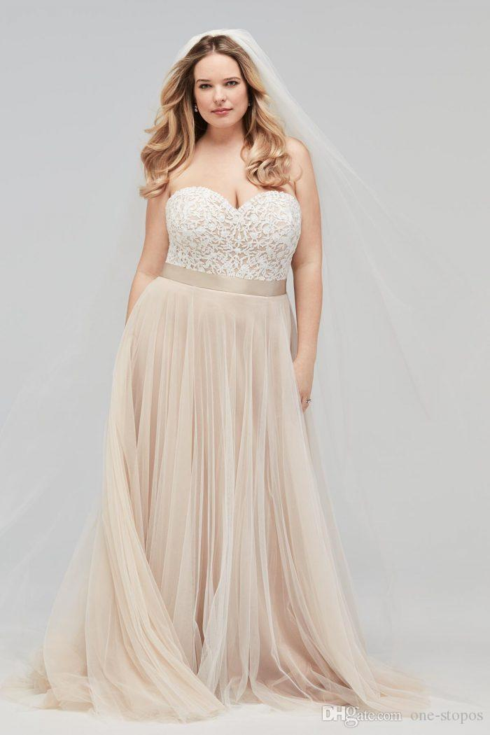 Discount 2019 Champagne Bohemian Wedding Dress Vintage Lace Appliqued Beach  Boho Bridal Gown Plus Size Wedding Gown Custom Made Strapless Lace Wedding  ...