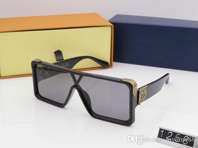 2021 Новые Роскошные Золотые Солнцезащитные Очки Полный Топ Золотой Дизайнер Солнцезащитные очки Для Миллионетер Женщины Рама Горячие Продажи Старинные Покрытием Z1258E Trend Men Akjp