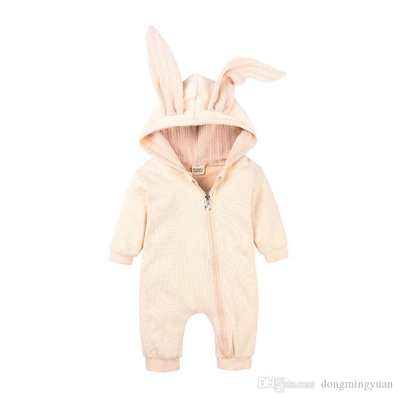 Bébé à Capuche Mignon Lapin Oreille Chaud Ange Filles Garçons Combinaison Tenues L