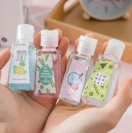 30ML Mini Hand Sanitizer 30ml Einweg-Flüssigseife Lotion Tragbares Hand Sanitizer No Clean Waschmittel Cartoon