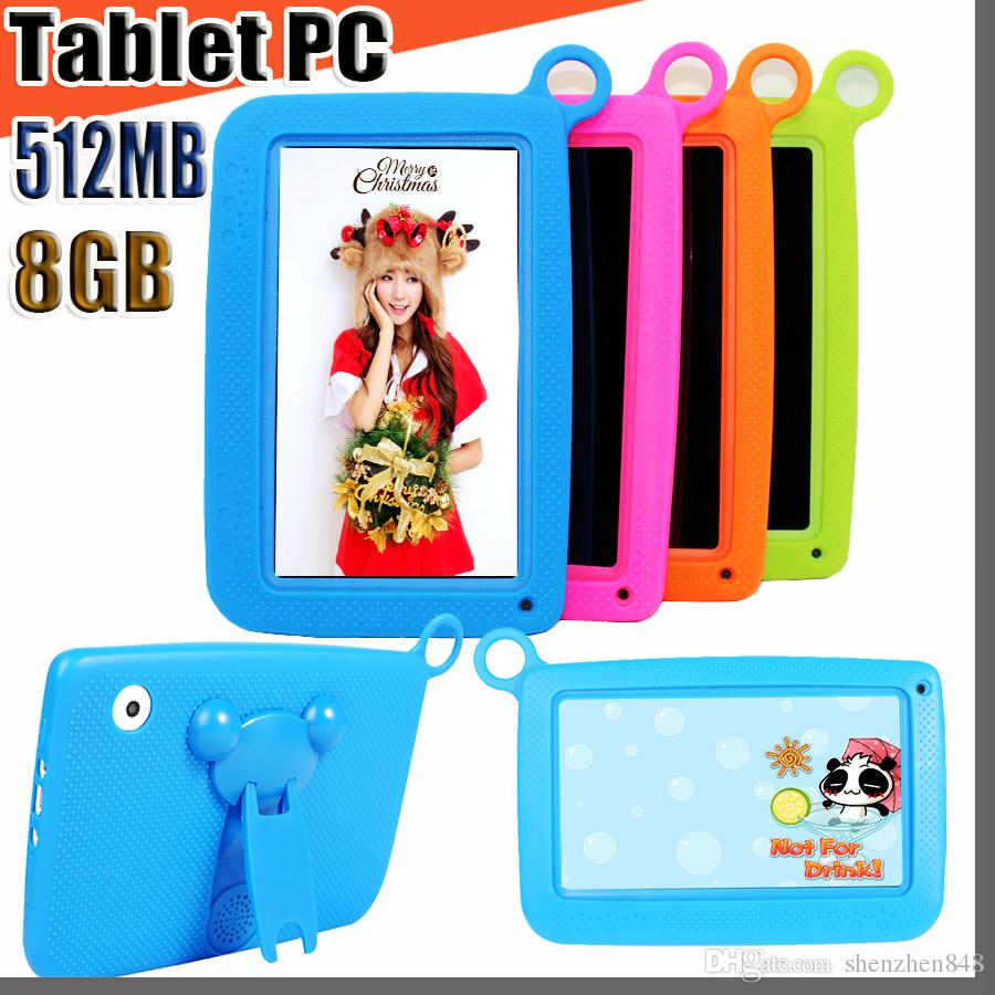"848 NEW Kids Brand Tablet PC 7"" Quad Core children tablet Android 4.4 Allwinner A33 google player wifi big speaker protective cover M-7PB"