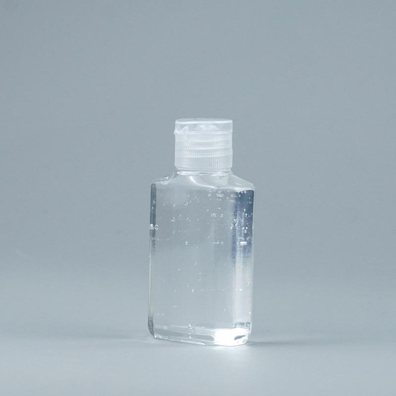 60 مل زجاجة بلاستيكية الحيوانات الأليفة مع فليب كاب شفاف مربع شكل زجاجة ل ماكياج المزيل المتاح اليد المطهر