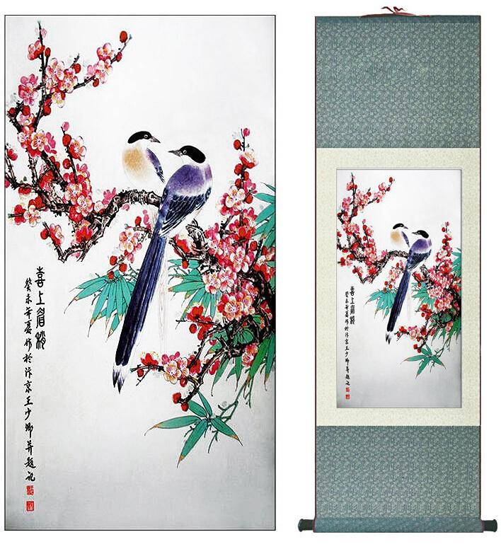 Traditional Chinese Art Painting Home Office Decoration Chinese Painting Spring Birdsprinted Painting