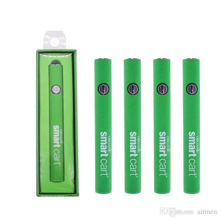 El más nuevo Smart Cart Batería Vape Pen 510 Thread Cartuchos 380 mAh de voltaje variable Precalentamiento de las baterías Smartcart con cargador USB