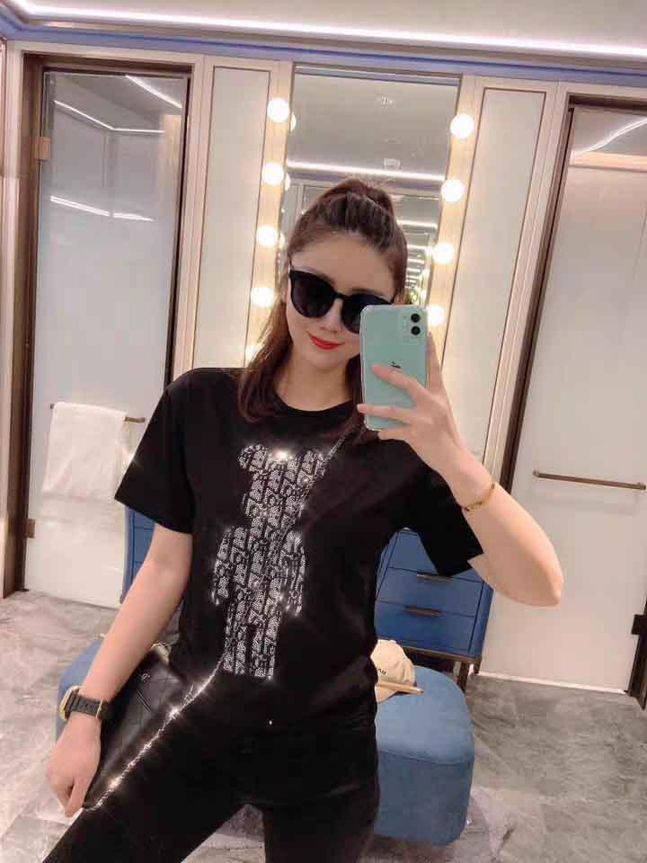 Nouveau Femmes Designer T-shirts marque de mode imprimé animal sport Chemises de luxe Vêtements pour femmes T-shirts Noir Blanc S-2XL