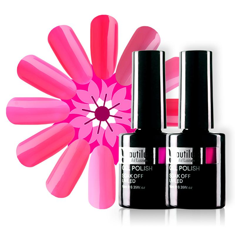 Beautilux Nail Gel Polish Hot Rose Neon Pink Color Collection Professional Salon Nails Art Gels Varnish UV LED Nail Lacquer 10ml