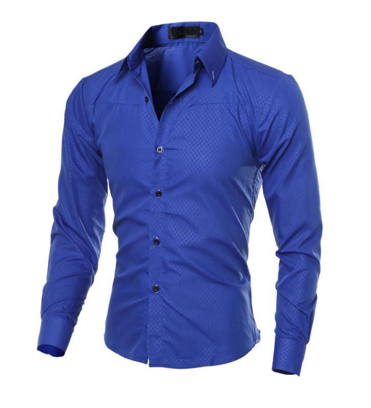 Мужские рубашки весна 2020 новый умный повседневный мужской плед модные рубашки без глажки тонкий с длинным рукавом формальная одежда Hombre мужской 5XL