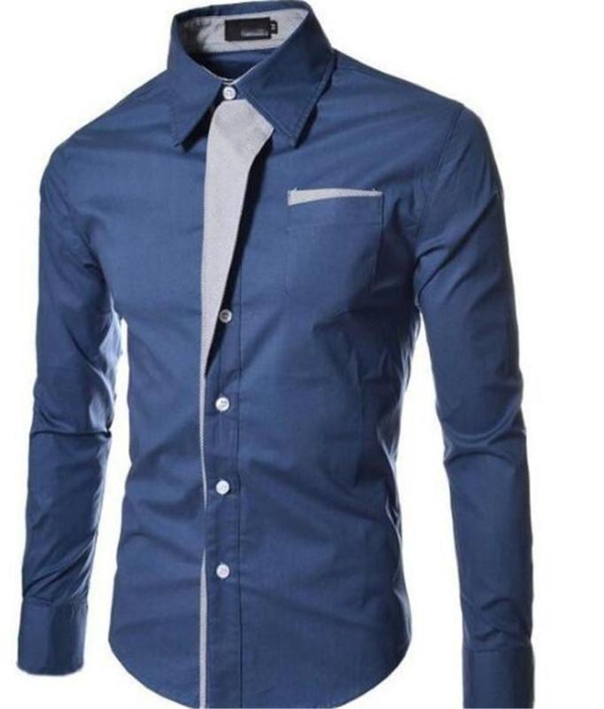 Men's shirt Men's long sleeve shirt Korean Slimming Design Formal casual Size Slimming
