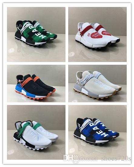 NewBest NMD Raça Humana Pharrell Williams BBC Infinito Espécies Saber Alma SOL CALMO Solar Pacote HU Trail sapatos das mulheres dos homens do desenhador tênis