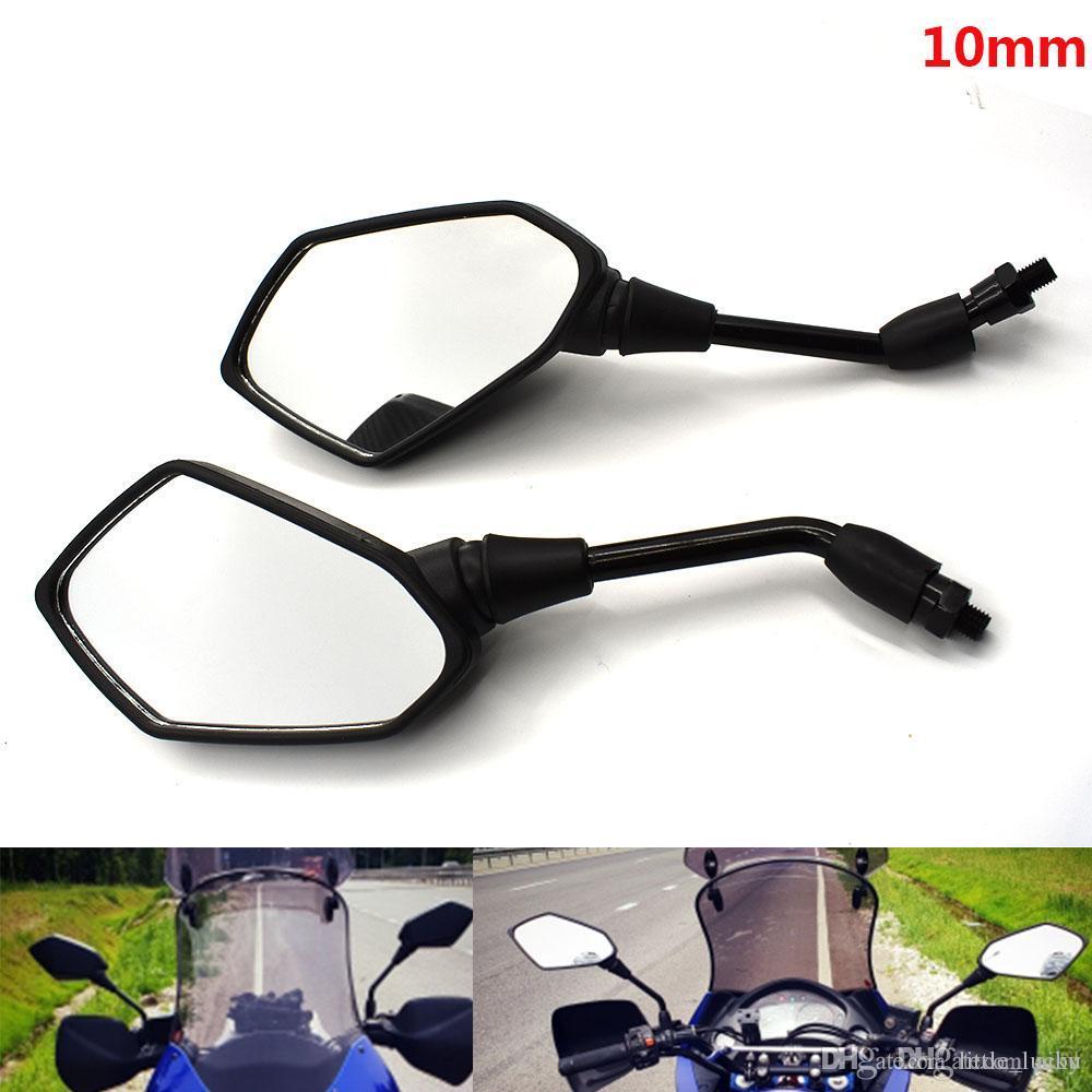 Fibra di carbonio 2 pezzi Specchi retrovisori retrovisori retrovisori universali modificati per motocicletta Specchietto retrovisore moto