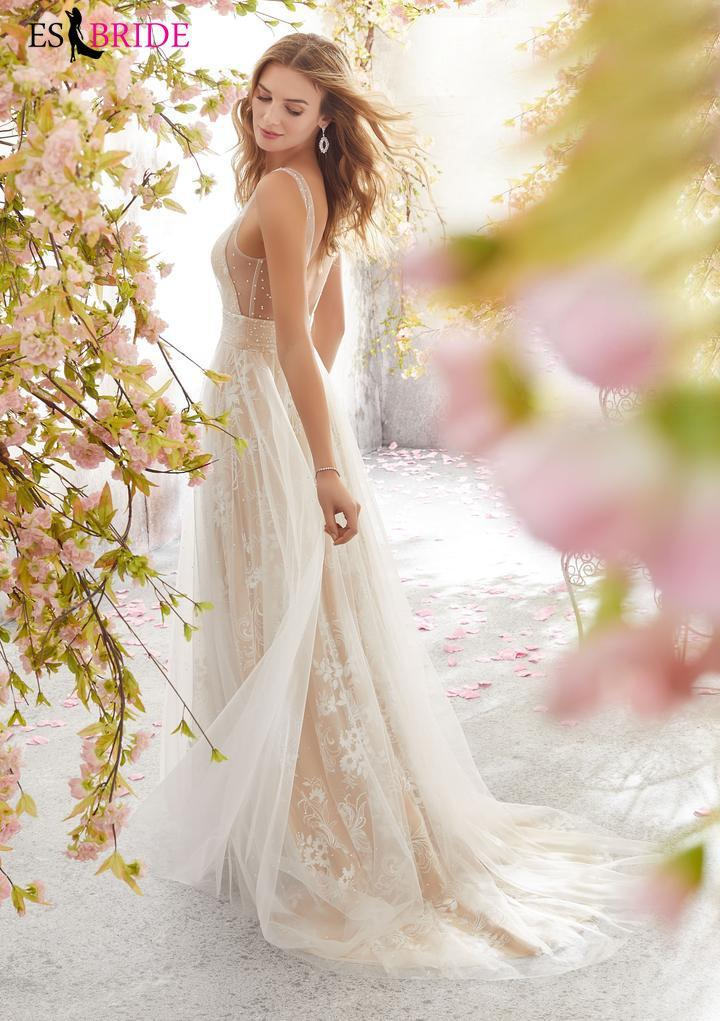 Abiye Uzun 2019 Moda Basit Plus Size Düğün Misafir Önlük Şık Dantel Aplikler Abito Da Cerimonia