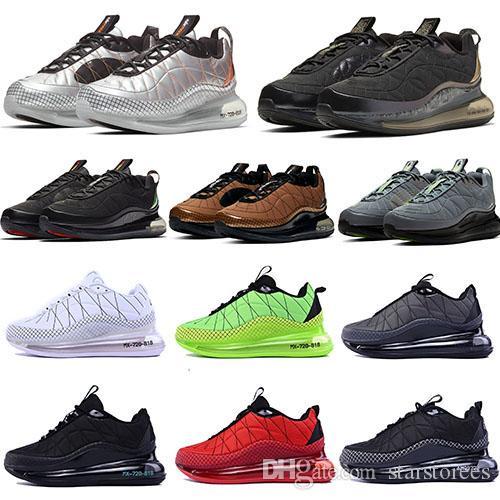 720-818 Chaussures de course 2020MX Coussin Casual New Sneakers Femmes Hommes Costume Espace Sport Noir Blanc Bleu Vert ETUI 36-45