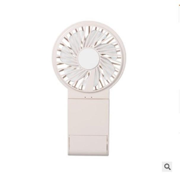 2020 Life Appliances clamshell mobile phone stand make-up Mirror Fan gift usb charging hand-held Mini Fan