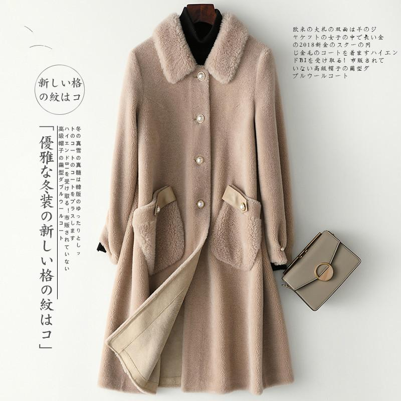 Autumn Winter Coat Women Clothes 2020 Real Fur Coat Female 100% Wool Jacket Korean Sheep Shearling Tops Suede Lining ZT3985
