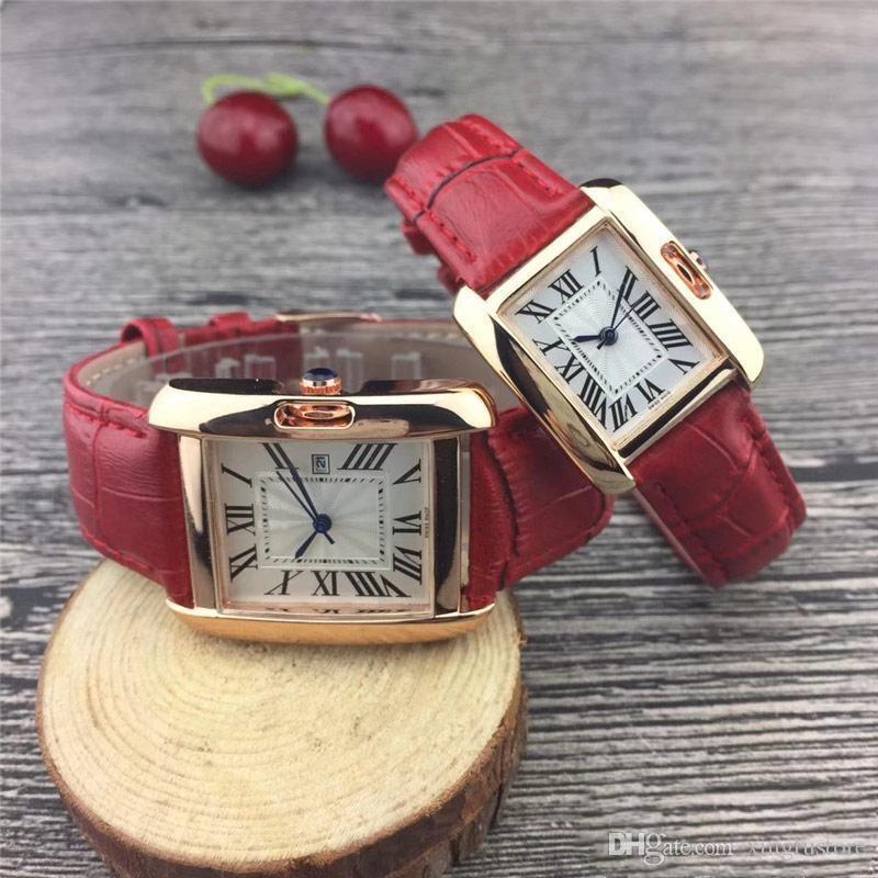2019 mode mann leder uhr platz luxus männliche armbanduhr mit datum tag kleid frauen stahl schwarz silber roségold zifferblatt paar luxus uhr