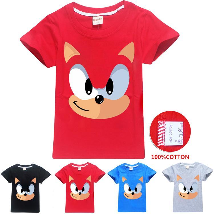 Sonic The Hedgehog Impreso camisetas para niños 4 colores 3-12t boys girls 100% Cotton Tees camiseta para niños ropa de diseñador DHL SS311