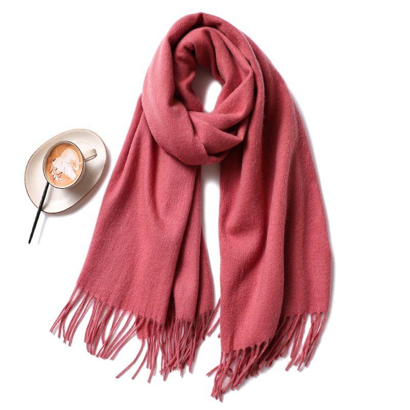 Nuovo spessore caldo della sciarpa del cachemire delle donne di solido sciarpa di colore di modo Piccolo fresco studente Scialle