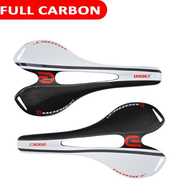 2020 New Design Full Carbon Bike Saddle Super Light Wide Model Common Used for MTB Moutain Racing Bike Matte and Glossy Seat