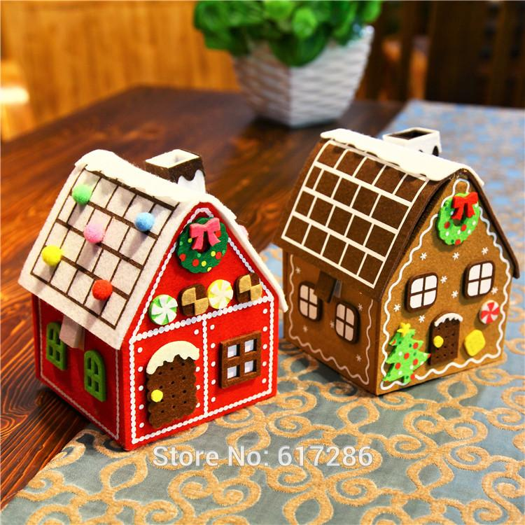 Gingerbread House Christmas House Felt Brown Red Hot Sale Big