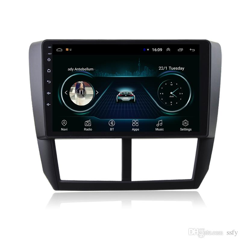 Android car GPS with radio AM FM vidio Resolution HD 1024 * 600 lossless music fast delivery for Subaru forester 2008-2012 9inch