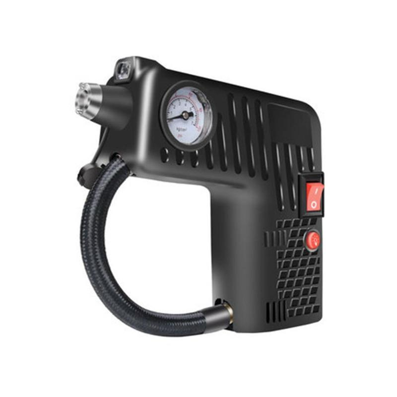 Multifunctional Portable Electric Tire Inflator Pump Single Cylinder Air Compressor with Gauge Universal For Car Trucks Tires