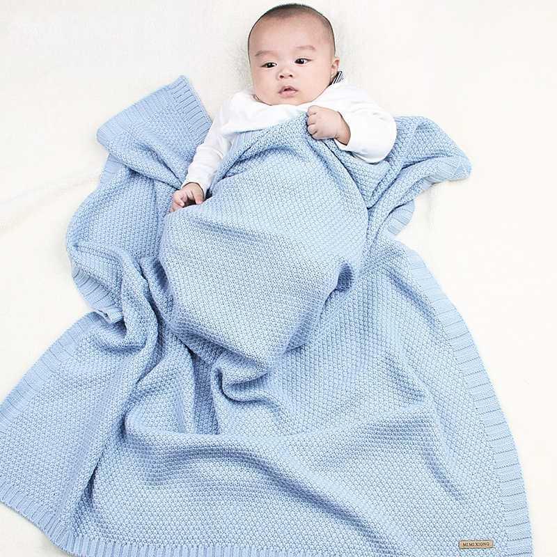 Nordic Одеяла Baby Boy девушки Вязаного Новорожденные Пледы Nap Quilts Wrap Infant Пеленальные Дети Постельные принадлежности Материал малыши Коляска Обложка