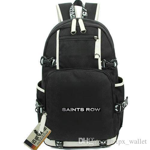 Saints Row day pack Presidente jogar mochila mochila tiro jogo packsack Mochila de computador Saco de escola de esporte Fora mochila de porta