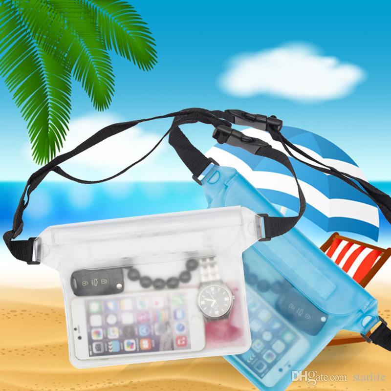 ماء الخصر حقيبة الهاتف حقائب السباحة تزلج الانجراف الغوص تحت الماء الجاف الكتف حزمة حقيبة حقيبة كاميرا ختم جيب الحقيبة 12 أنماط