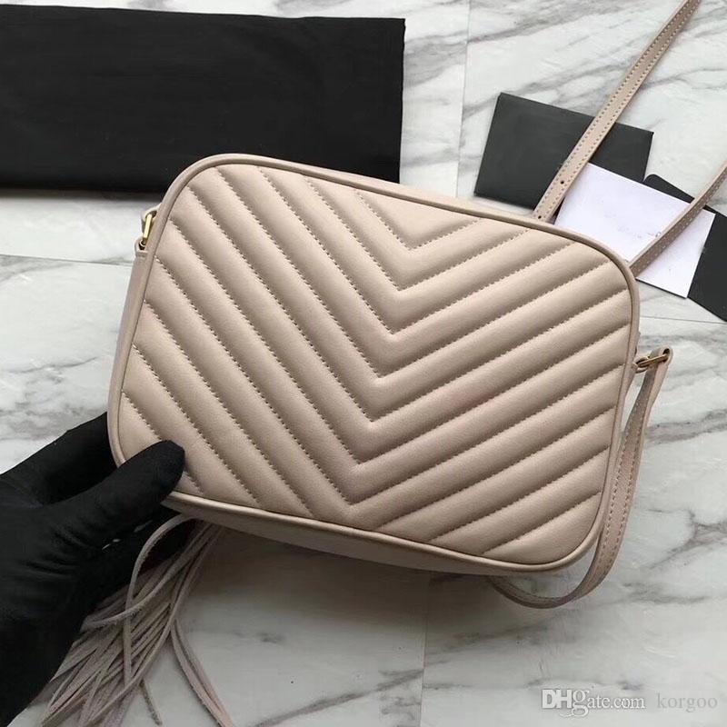 2019 Sacs à main de haute qualité pour femmes en cuir de vachette véritable cuir fermeture à glissière sac à main à chevrons sac à bandoulière sac à bandoulière lou lou sac photo