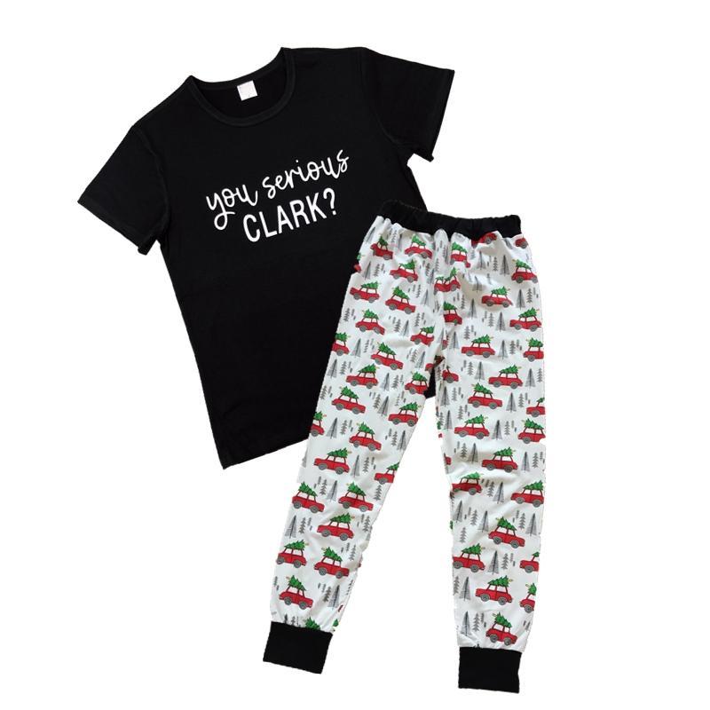 Повседневные Вы Серьезная Clark футболка 2 шт Набор семьи Дети Для женщин Новой моды лето с короткого рукавом Женского Femme Top Tee падение корабли