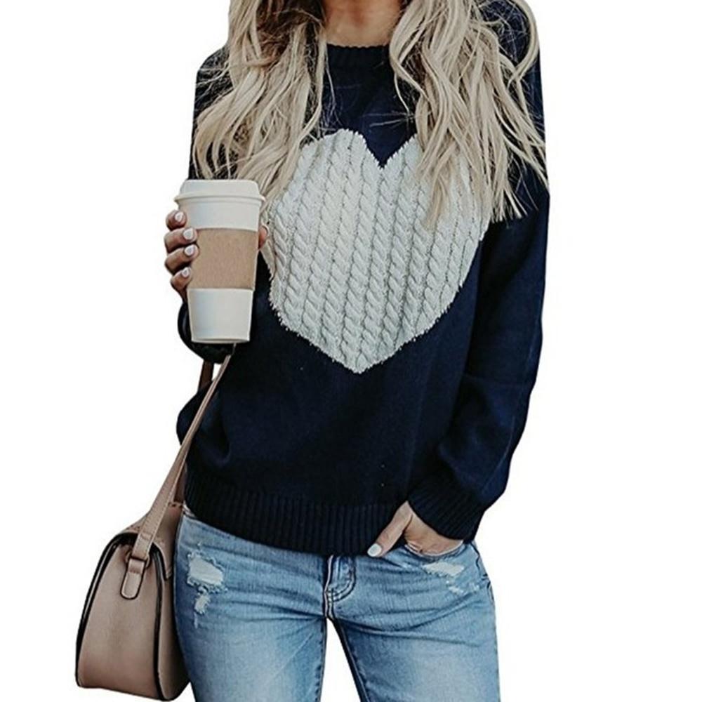 Donne Maglione 2019 Marca Plus Size pullover designer di maglieria Spring Love maglione casuale delle donne vestiti caldi Outwear