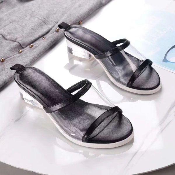 Designer-tofles Beach Fashion Broyage Chaussons femmes à hauts talons de chaussons avec la taille Box; 35-40