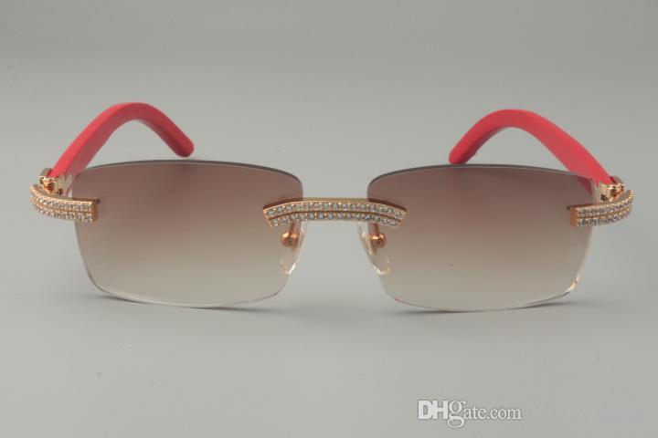 19 352412-B, Plaid / Rail Taille: Lunettes de diamant, Couleurs Bois blanc Divers doubles lunettes de soleil gravées de luxe Naturel 56-18-135mm KTFKX