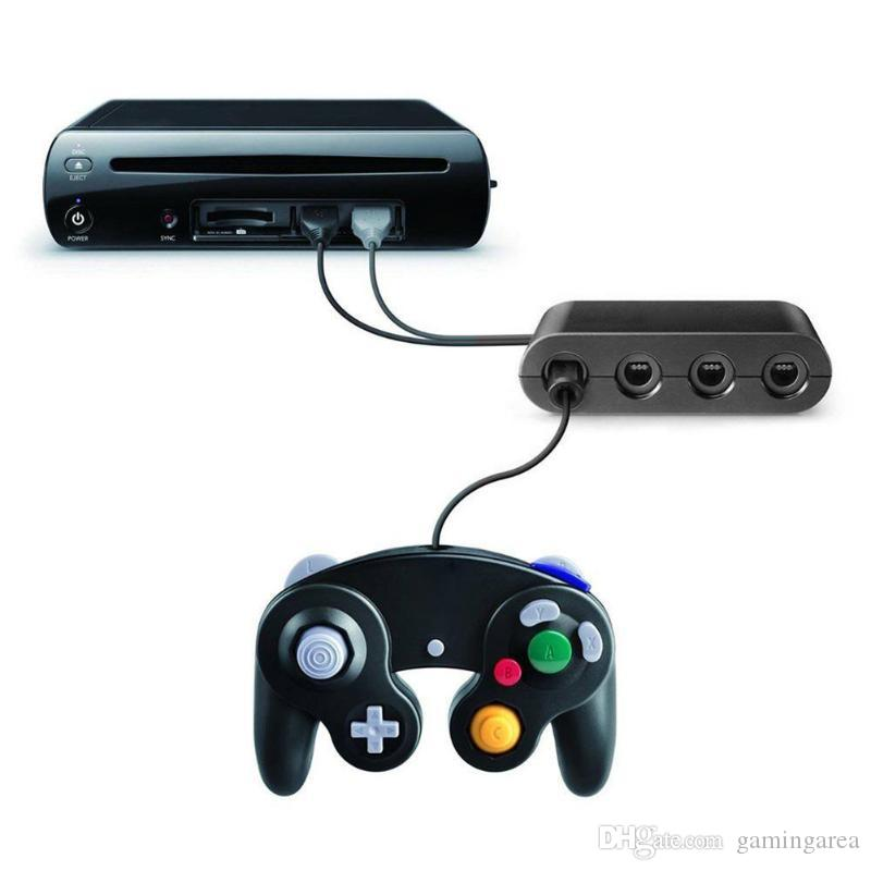 4 Ports for GC GameCube to for Wii U PC USB Switch Game Controller Adapter Converter Super Smash Brothers High Quality FAST SHIP