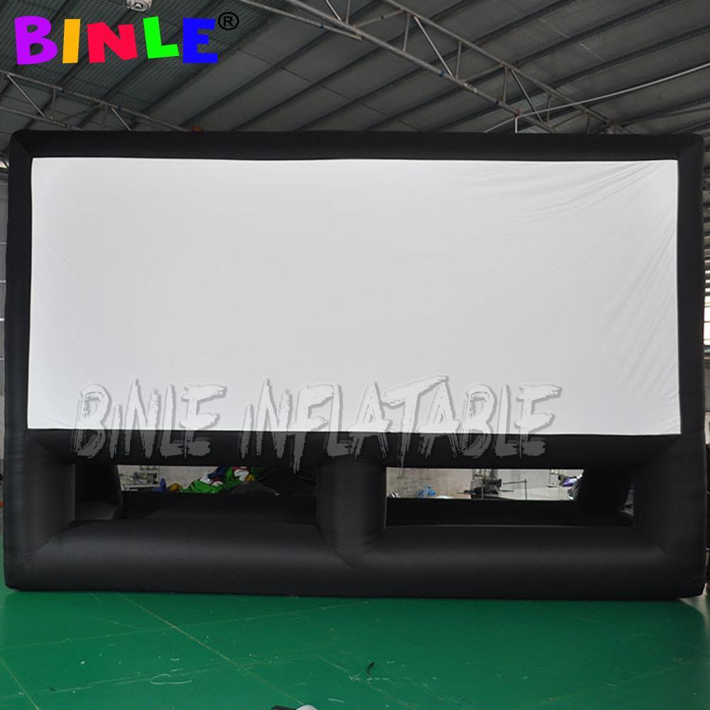 العلامة التجارية الجديدة 10x8m العملاقة نفخ فيلم الشاشة في الهواء الطلق نفخ شاشة العرض التلفزيون مع التوصيل المجاني للفيلم الخارجي