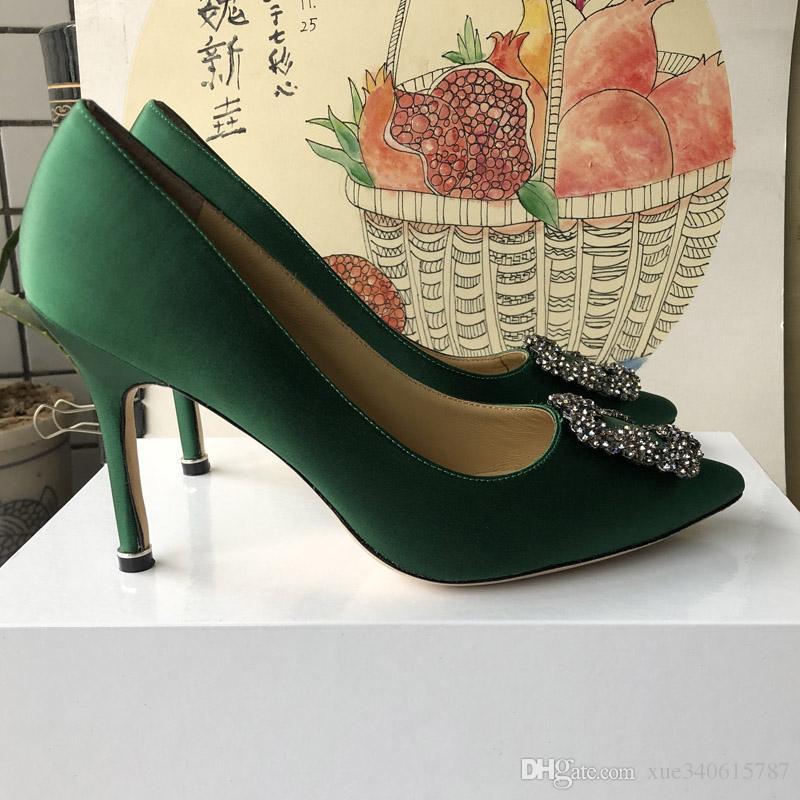 Высочайшее качество Женская обувь Красные низы Высокие каблуки Сексуальные заостренные носки туфли на высоком каблуке Идти с логотипом пылесборники Свадебные туфли