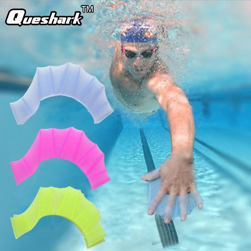 portos Entretenimento Homens Mulheres Criança Meia dedo de silicone Swimming Fins Swim Pool Treino Desportivo Mão Webbed Gloves Flippers Paddles Eq ...