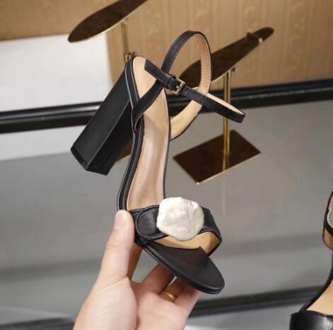 صحيفة الصنادل الكلاسيكية سيدة الصيف الصنادل الأحذية مشبك معدني جلد حقيقي مثير أحذية عالية الكعب المرأة 10 سنتيمتر