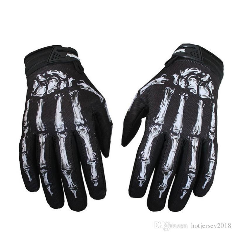 Fashion 1 Pair Motorcycle Skeleton Bones Motocross Gloves Outdoor Windproof Waterproof MTB Sports Gloves