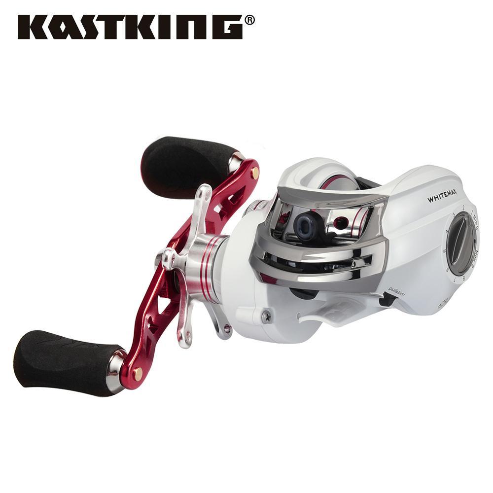 KastKing Whitemax 8KG/17.6LB Dual Brake System Fishing Reel 12 Ball Bearings 5.3:1 Perfect Low Gear Ratio Baitcasting Reel T191223